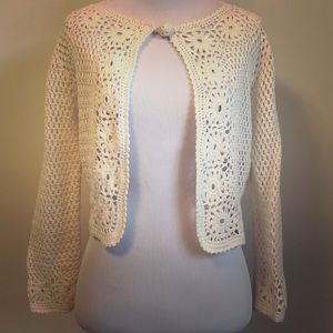 Lily Pulitzer Crochet Cardigan Sweater - Size S